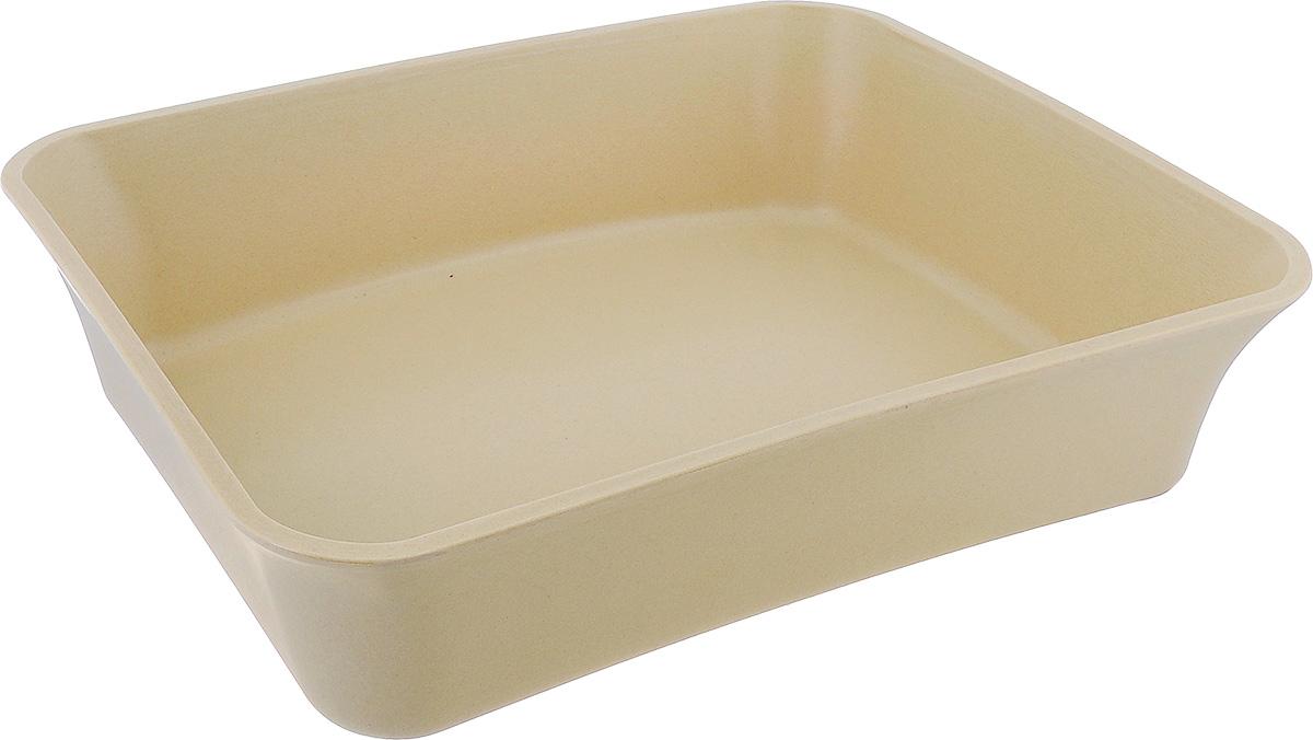 Туалет для кошек VanNess, цвет: бежевый, 45 см х 36 см х 11 см12171996Туалет для кошек VanNess изготовлен из каучука, бамбука и рисовой шелухи. Высокий борт по периметру лотка предотвращает разбрасывание наполнителя. Это самый простой в употреблении предмет обихода для кошек и котов.Материал: каучук, бамбук, рисовая шелуха.