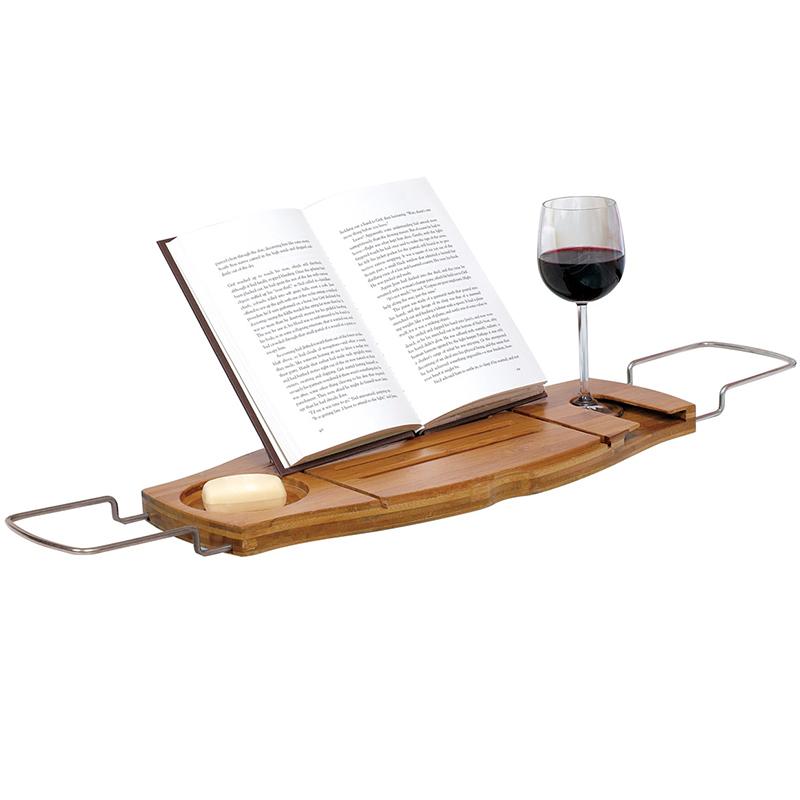 Полка для ванной Umbra Aquala дерево. 020390-390020390-390Полка для ванной Umbra Aquala изготовлена из экологически чистого натурального бамбука. Позвольте себе провести уютный вечер в ванне. Только вы, пена, бокал вина, книга и полная релаксация. На полке достаточно места для вазочки с фруктами или ароматной свечи, так что вы буквально почувствуете себя в спа-салоне. Раздвигается под любую ширину ванны (до 102 см). Упакована в фирменную коробку.