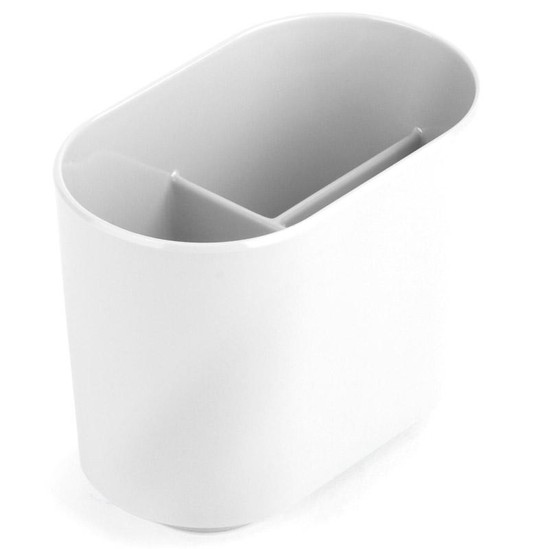 Держатель для зубных щеток Umbra Step, цвет: белый3479Держатель Step изготовлен из пластика и предназначен для хранения зубных щеток, придется кстати в любом доме и вместит зубные щетки всех членов семьи.Размер: 12,1 x 7,6 x 10,2 см.