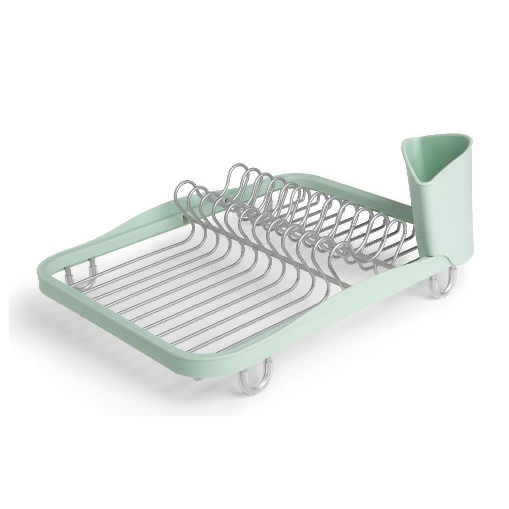 Сушилка для посуды Umbra Sinkin Dish, цвет: мятный, 35 х 9 х 26 смМ 1204_салатовыйСушилка для посуды Umbra Sinkin Dish выполнена из полипропилена. Оснащена прорезиненными ножками, чтобы не царапать поверхность раковины или стола. Съемная подставка позволит собрать все столовые приборы в одном месте. Сушилку можно поставить прямо в раковину, чтобы быстро просушить тарелки, вилки и чашки. Размер сушилки: 35 х 9 х 26 см.