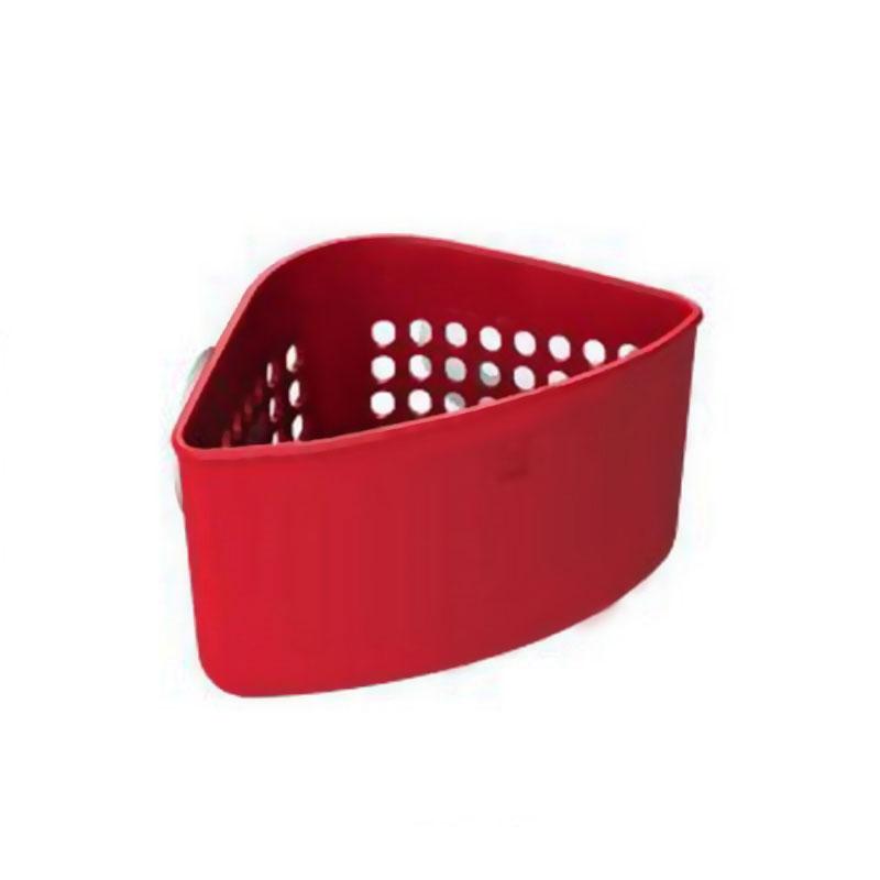 Органайзер для раковины Umbra Caddy, угловой, цвет: красный391602Кухонные органайзеры Кедди пополнились новыми, лаконичными и очень удобными уголками для раковины.Они крепятся внутри раковины на присоски (в комплекте).Уголки имеют множество дырочек, отвечающих сразу нескольким требованиям:1) с их помощью можно самим регулировать, куда вставить присоски; 2) подойдёт в любую раковину; 3) они позволяют воздуху циркулировать и лучше высушивать губки и щётки; 4) они обеспечивают уголку стильный дизайн. Размер: 16 х 10 х 10 см.