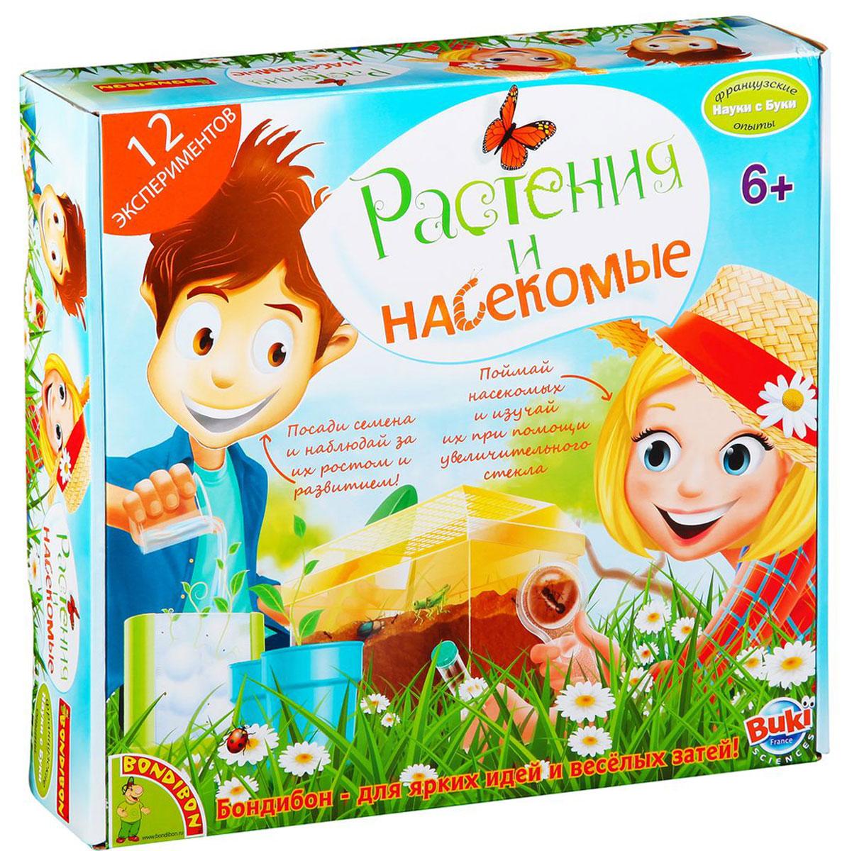 """Дети обожают наблюдать за природой. Они с интересом рассматривают жучков, кузнечиков, муравьев и бабочек, внимательно изучают их повадки, с удовольствием ухаживают за садовыми и огородными растениями. Теперь ребенок может делать это даже дома, не выезжая за город: научно-познавательный набор """"Растения и насекомые"""" - великолепный подарок юному натуралисту! Его ждет множество увлекательных экспериментов - простых, но очень интересных! С этим набором каждый сможет увидеть даже то, что в природе скрыто от наблюдения. Как гусеница превращается в бабочку, как земляные черви роют под землей свои замысловатые ходы или как прорастает пшеничное зерно - наблюдение за всеми этими процессами не только невероятно интересно, но и очень познавательно."""