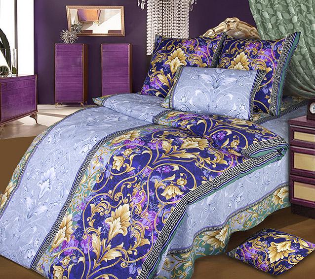 Комплект белья Белиссимо Шик 1, 1,5-спальный, наволочки 70х70, цвет: голубой, фиолетовый, бежевый391602Великолепное постельное белье Белиссимо Шик 1 выполнено из высококачественной бязи (100% хлопок) и украшено роскошным рисунком. Комплект состоит из пододеяльника, простыни и двух наволочек. Бязь - хлопчатобумажная плотная ткань полотняного переплетения. Отличается прочностью и стойкостью к многочисленным стиркам. Бязь считается одной из наиболее подходящих тканей, для производства постельного белья и пользуется в России большим спросом.