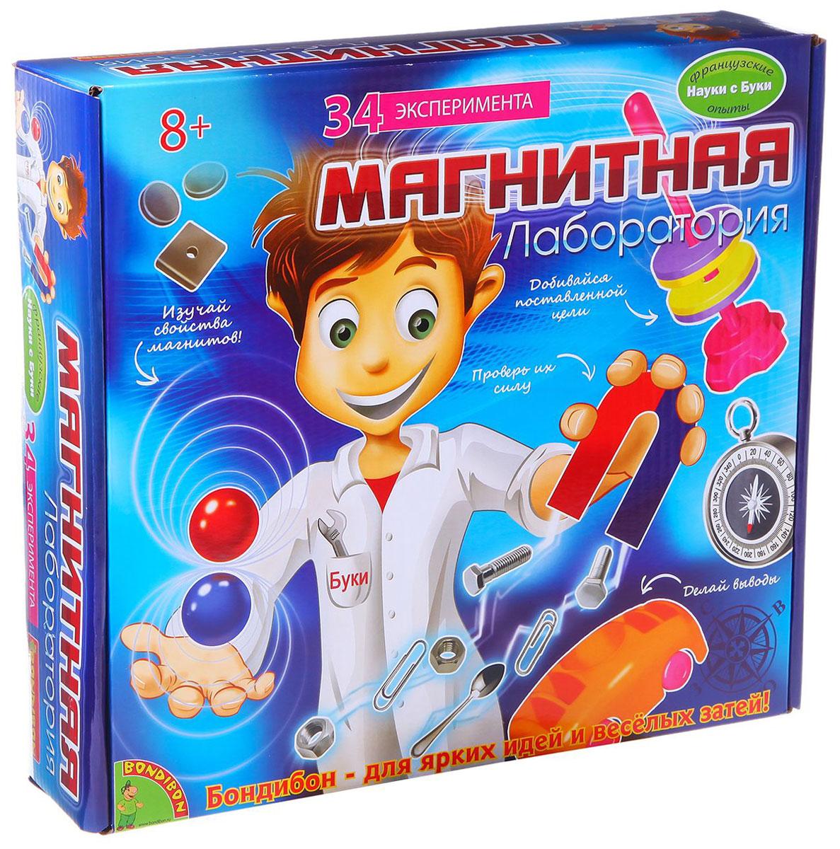 """Оказывается, магниты притягивают не только многие металлические предметы, но и внимание юных исследователей! Это подтверждает научно-познавательный набор """"Магнитная лаборатория"""", в котором собраны десятки увлекательных экспериментов с использованием магнитов. Проводя эти занимательные опыты, ребенок получает знания о свойствах и силе магнитов, о том, что такое магнитные полюса и почему одни материалы притягиваются к ним, а другие - нет. Кроме того, """"Магнитная лаборатория"""" познакомит ребенка с историей магнитов, сфере их применения и даже научит изготавливать их самостоятельно. Все эти знания и умения обязательно пригодятся ребенку не только в изучении физики, но и в повседневной жизни. А если проводить опыты с друзьями, то можно превратить эти занимательные эксперименты в веселую игру."""