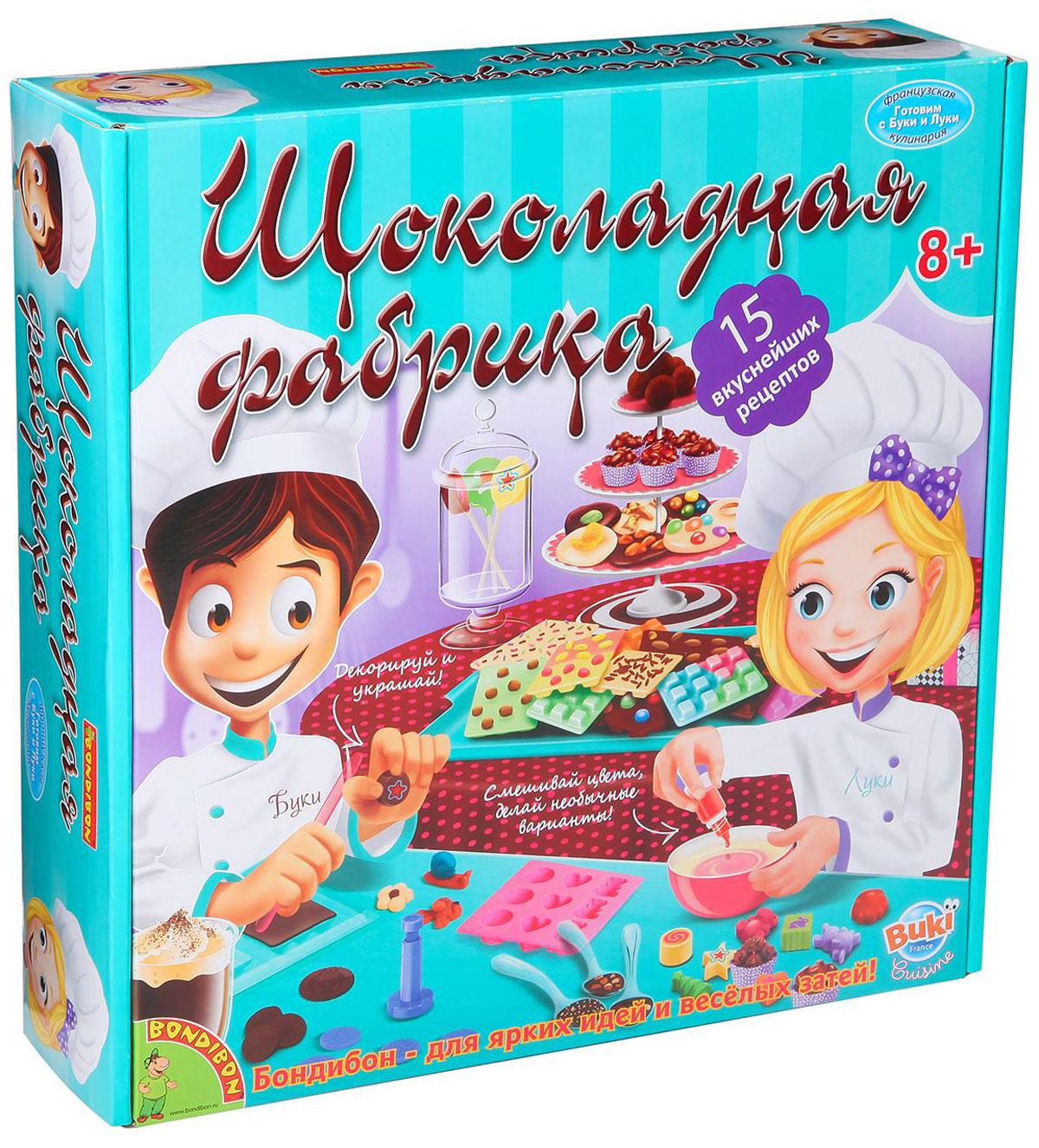 """Какой ребенок не любит шоколад и не мечтает о собственной шоколадной фабрике? Теперь это стало возможным: набор """"Шоколадная фабрика"""" с 15 замечательных кулинарных экспериментов создан специально для юных кондитеров и сладкоежек! Они смогут прямо на собственной домашней кухне самостоятельно приготовить свои любимые шоколадные конфеты, монеты, медальоны, горячие питательные напитки и даже большие шоколадные плитки! Такое великолепное угощение не сравнить с магазинным, оно приятно удивит и родителей юного кондитера, и его гостей. А если пригласить друзей, чтобы вместе приготовить сладкие лакомства, то приятная работа превратится в увлекательную и веселую игру. Домашняя """"Шоколадная фабрика"""" позволит ребенку в любое время побаловать себя любимым шоколадом и угостить родителей, друзей и всех тех, кто придет к нему в гости!"""