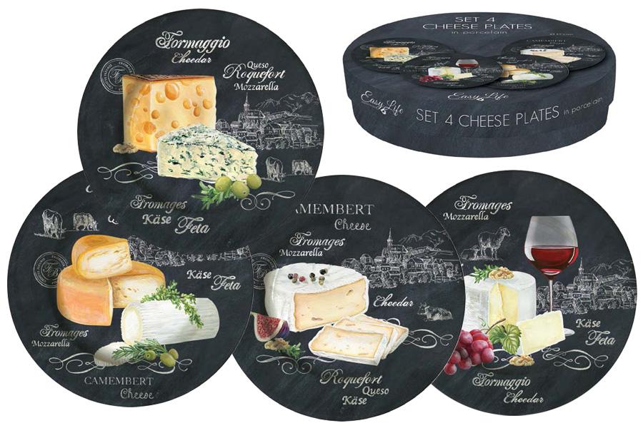 Набор из 4-х десертных тарелок Мир сыров. R2S463/WOCH-AL54 009312Вся продукция производится из современных и экологически чистых материалов: фарфора, стекла, пластика и дерева. Продукция компании «NUOVA R2S» отличается современным дизайном, и легкостью в эксплуатации. Компания работает в тесном сотрудничестве с лучшими итальянскими художниками и дизайнерами. Важным преимуществом этой фабрики, является оригинальная подарочная упаковка. Продукция компании «NUOVA R2S» не только современный подарок и украшение для Вашего дома, но и всегда неисчерпаемое количество идей на Вашей кухне.