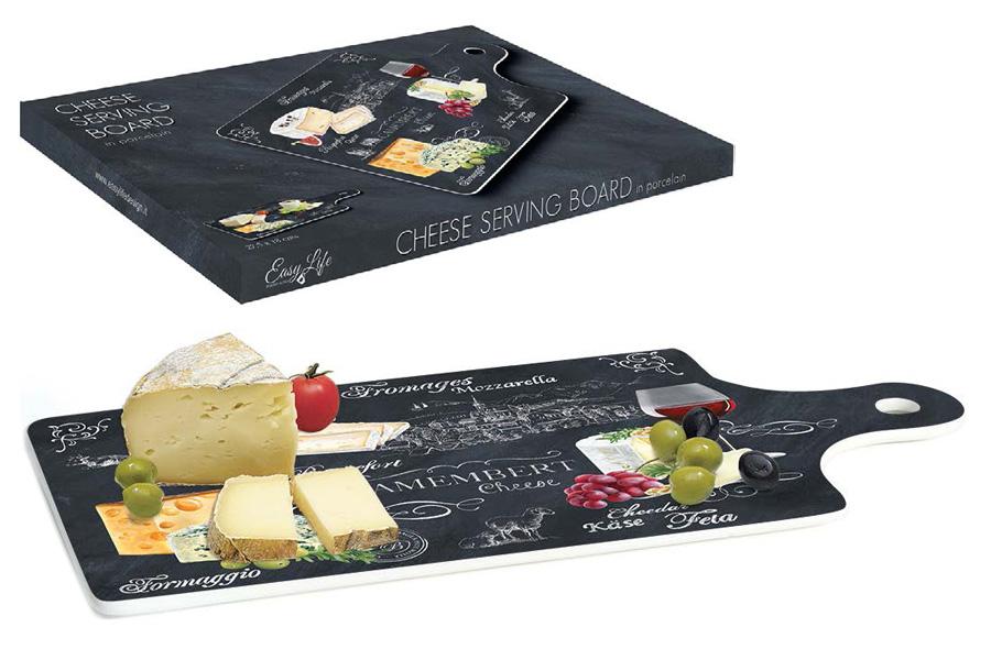 Доска разделочная Nuova R2S Мир сыров, 34,5 х 18 см0080054Разделочная доска Nuova R2S Мир сыров, выполненная из высококачественного фарфора, оснащена удобной ручкой и имеет гладкую поверхность, которая предотвратит появление разводов, царапин и появление бактерий. Изделие можно использовать для раскатывания теста, подачи на стол сыров, пиццы и других блюд.Разделочная доска Nuova R2S Мир сыров станет незаменимым помощником на вашей кухне.