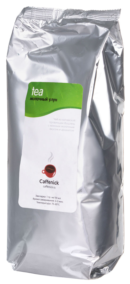 Caffenick Молочный улун зеленый листовой чай, 500 г0120710Китайский полуферментированный крупнолистовой чай Caffenick Молочный улун с выраженным нежным молочным ароматом и мягким молочным вкусом.
