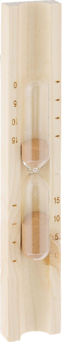 Часы песочные для бани и сауны Доктор баня, цвет песка: коричневый391602Песочные часы Доктор баня выполнены из натурального дерева и термостойкого стекла. Внутри стеклянных колб - цветной кварцевый песок. Часы предназначены для использования в бане и сауне. Они не боятся высоких температур и влажности. Благодаря таким часам вы сможете правильно определить длительность процедур. Часы имеют шкалу, отмеряющую 5, 10 и 15 минут.