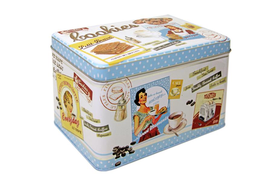 Коробка для печенья Nuova R2S Винтаж, 22 х 14 х 13 смVT-1520(SR)Коробка для печенья Nuova R2S Винтаж изготовлена из металла с декором в винтажном стиле. Такая коробка прекрасно подойдет для хранения печенья, конфет и других сладостей, а также орехов или сухофруктов. Изделие отлично дополнит коллекцию ваших кухонных аксессуаров и порадует вас оригинальным дизайном.