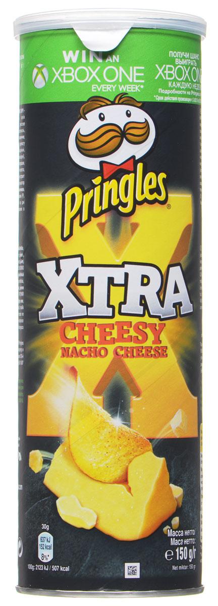 Pringles Xtra картофельные чипсы Cырные начос, 150 г0120710Картофельные чипсы Pringles Xtra со вкусом сыра Начо подарят вам невероятный вкус суперсырных начос.