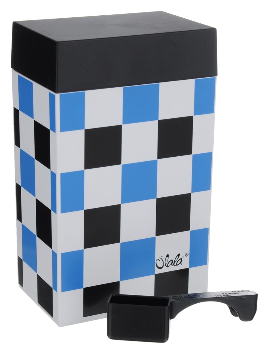 Контейнер для хранения Olala, цвет: белый, черный, голубой, 600 млVT-1520(SR)Прямоугольный контейнер Olala предназначен специально для хранения пищевых продуктов. Он выполнен из высококачественного пластика. Крышка легко и плотно закрывается. Контейнер устойчив к воздействию масел и жиров, легко моется. В комплекте прилагается мерная ложечка. Объем контейнера: 600 мл.Размер контейнера: 10 см х 6,5 см х 16 см.
