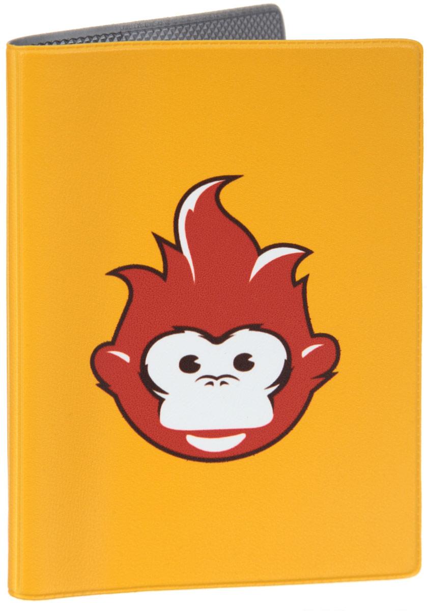 Обложка для паспорта Огненная обезьяна. OZAM385595Яркая обложка для паспорта Mitya Veselkov Огненная обезьяна выполнена из поливинилхлорида и оформлена принтом с изображением обезьянки.Изделие раскладывается пополам. Внутри расположены два накладных кармана.Обложка для паспорта поможет сохранить внешний вид ваших документов и защитить их от повреждений, а также станет стильным аксессуаром, который подчеркнет ваш образ.