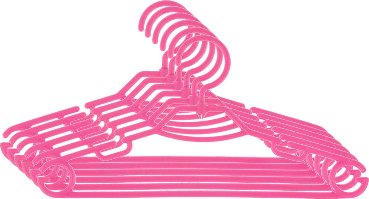 Вешалка детская для одежды York, вращающаяся, цвет: малиновый, 6 шт25051 7_желтыйДетская вешалка для одежды York изготовлена из прочного пластика. Наличие вращающегося крючка позволяет располагать вешалки под любым углом. Изделие имеет большую перекладину, малую перекладину и четыре крючка. Подходит для брюк, юбок, блузок, шарфов. Незаменимый аксессуар для аккуратного хранения вещей.