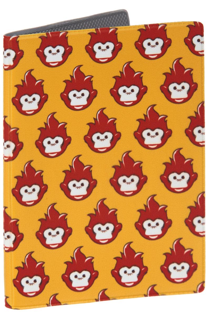 Обложка для паспорта Много огненных обезьян. OZAM38423/0121/219Яркая обложка для паспорта Mitya Veselkov Много огненных обезьян выполнена из поливинилхлорида и оформлена принтом с изображением обезьянок.Изделие раскладывается пополам. Внутри расположены два накладных кармана.Обложка для паспорта поможет сохранить внешний вид ваших документов и защитить их от повреждений, а также станет стильным аксессуаром, который подчеркнет ваш образ.