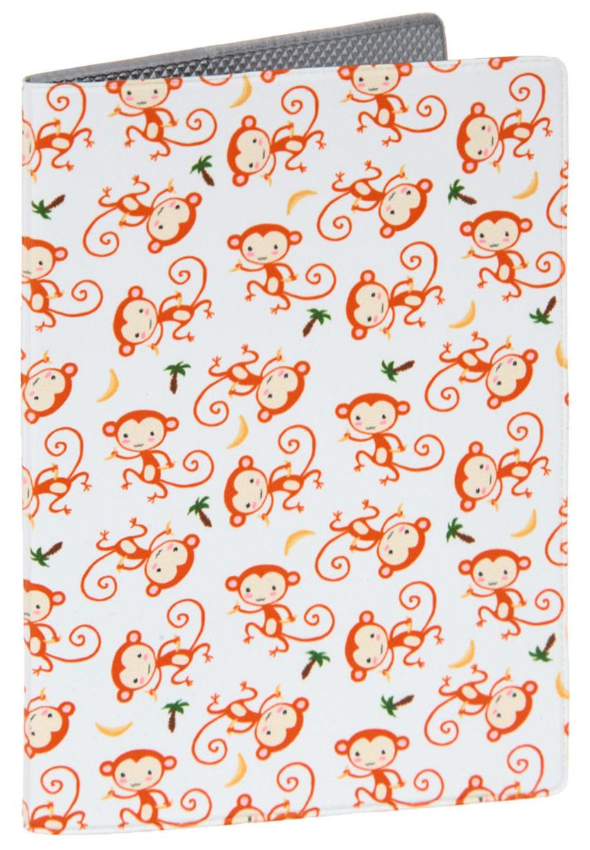 Обложка для паспорта Красные обезьянки. OZAM3833332-A/Red-YellowЯркая обложка для паспорта Mitya Veselkov Красные обезьянки выполнена из поливинилхлорида и оформлена принтом с изображением разноцветных обезьянок.Изделие раскладывается пополам. Внутри расположены два накладных кармана.Обложка для паспорта поможет сохранить внешний вид ваших документов и защитить их от повреждений, а также станет стильным аксессуаром, который подчеркнет ваш образ.