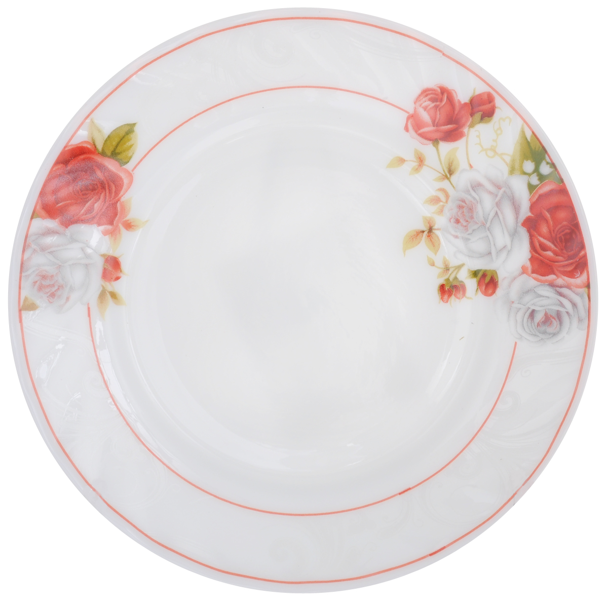 Тарелка десертная Chinbull Классик, диаметр 18 смFS-91909Десертная тарелка Chinbull Классик, изготовленная из экологически чистой стеклокерамики, оформлена красочным рисунком цветов и изящными узорами. Такая тарелка прекрасно подходит как для торжественных случаев, так и для повседневного использования. Идеальна для подачи десертов, пирожных, тортов и многого другого. Она прекрасно оформит стол и станет отличным дополнением к вашей коллекции кухонной посуды.Можно использовать в посудомоечной машине и СВЧ.Диаметр (по верхнему краю): 18 см.Высота стенки: 1,7 см.