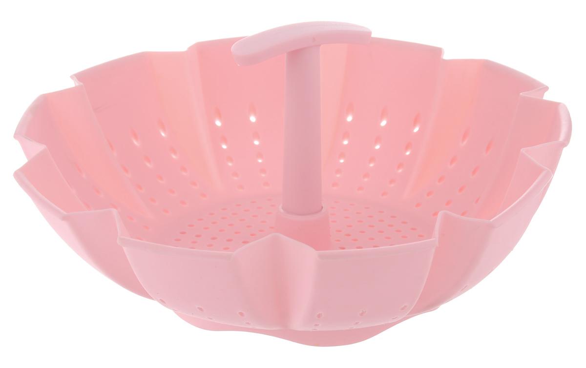Пароварка Mayer & Boch, цвет: розовый, 900 мл391602Пароварка Mayer & Boch выполнена из высококачественного силикона и предназначена для готовки на пару и разогрева. Изделие можно безбоязненно помещать в морозильную камеру, холодильник, микроволновую печь, посудомоечную машину и духовой шкаф. Благодаря материалу пароварка не ржавеет, на ней не образуются пятна.Диаметр по верхнему краю: 22 см.Высота: 10 см.