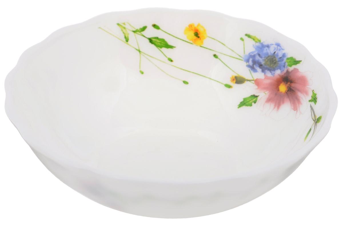 Салатник Chinbull Флоренция, диаметр 14,5 смJ1302Салатник Chinbull Флоренция выполнен из высококачественной стеклокерамики и декорирован ярким изображением цветов. Салатник сочетает в себе изысканный дизайн с максимальной функциональностью. Он прекрасно впишется в интерьер вашей кухни и станет достойным дополнением к кухонному инвентарю. Салатник Chinbull Флоренция не только украсит ваш кухонный стол и подчеркнет прекрасный вкус хозяйки, но и станет отличным подарком.Можно использовать в посудомоечной машине и СВЧ.Диаметр (по верхнему краю): 14,5 см.Высота стенки: 5 см.