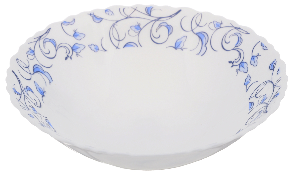 Тарелка суповая Нормандия, диаметр 19 см391602Суповая тарелка Chinbull Нормандия, выполненная из высококачественной стеклокерамики, декорирована изображением листьев. Изящный дизайн придется по вкусу и ценителям классики, и тем, кто предпочитает утонченность. Тарелка Chinbull Нормандия идеально подойдет для сервировки стола и станет отличным подарком к любому празднику.Диаметр (по верхнему краю): 19 см.Высота стенки: 5,5 см.