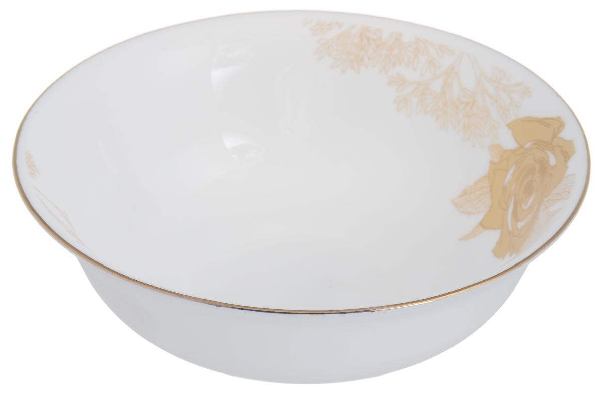 Миска Chinbull Шампань, диаметр 16.5 см54 009312Оригинальная миска Chinbull Шампань, выполненная из высококачественной стеклокерамики, декорирована изображением цветов. Изящный дизайн придется по вкусу и ценителям классики, и тем, кто предпочитает утонченность. Изделие очень функционально, оно пригодится на кухне для самых разнообразных нужд: в качестве салатника, миски или тарелки.Миска Chinbull Шампань идеально подойдет для сервировки стола и станет отличным подарком к любому празднику. Можно использовать в посудомоечной машине и СВЧ. Диаметр (по верхнему краю): 16,5 см. Высота стенки: 5,3 см.