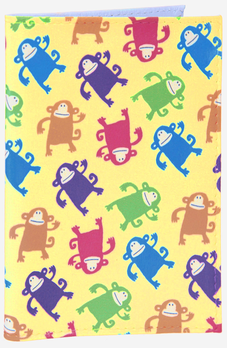 Обложка для паспорта Смешные обезьянки. OZAM3863328-A/Black-RedЯркая обложка для паспорта Mitya Veselkov Смешные обезьянки выполнена из поливинилхлорида и оформлена принтом с изображением разноцветных обезьянок.Изделие раскладывается пополам. Внутри расположены два накладных кармана.Обложка для паспорта поможет сохранить внешний вид ваших документов и защитить их от повреждений, а также станет стильным аксессуаром, который подчеркнет ваш образ.