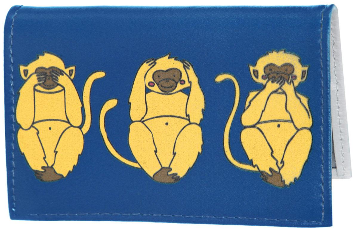 Обложка для автодокументов Три мудрых обезьяны на синем. AUTO388AUTO271Яркая обложка для автодокументов Mitya Veselkov Три мудрых обезьяны на синем выполнена из натуральной кожи и оформлена принтом с изображением обезьянок.Изделие раскладывается пополам. Внутри расположены два накладных кармана из пластика и пластиковый вкладыш, состоящий из пяти файлов для автодокументов.Обложка для автодокументов поможет сохранить внешний вид ваших документов и защитить их от повреждений, а также станет стильным аксессуаром, который подчеркнет ваш образ.