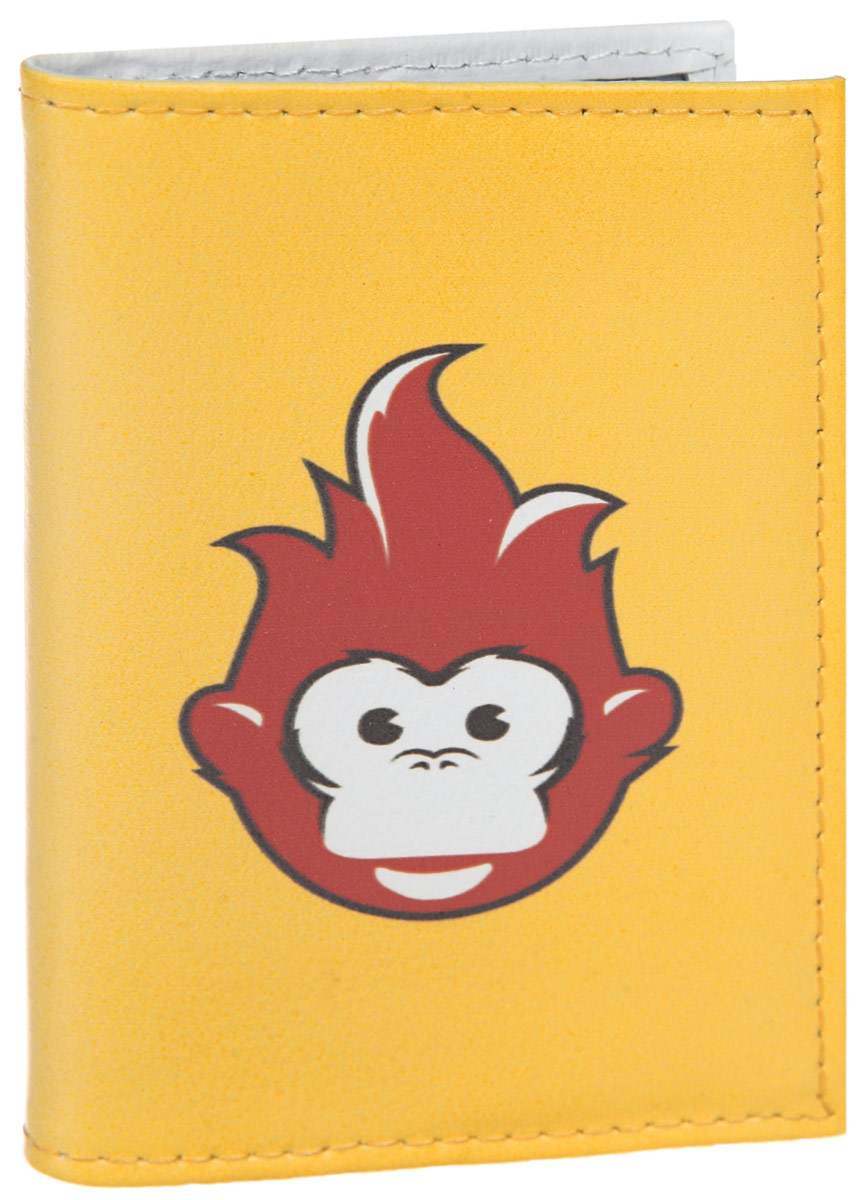 Обложка для автодокументов Огненная обезьяна. AUTO385ДА-18/2+Н550Яркая обложка для автодокументов Mitya Veselkov Огненная обезьяна выполнена из натуральной кожи и оформлена принтом с изображением обезьянки.Изделие раскладывается пополам. Внутри расположены два накладных кармана из пластика и пластиковый вкладыш, состоящий из пяти файлов для автодокументов.Обложка для автодокументов поможет сохранить внешний вид ваших документов и защитить их от повреждений, а также станет стильным аксессуаром, который подчеркнет ваш образ.
