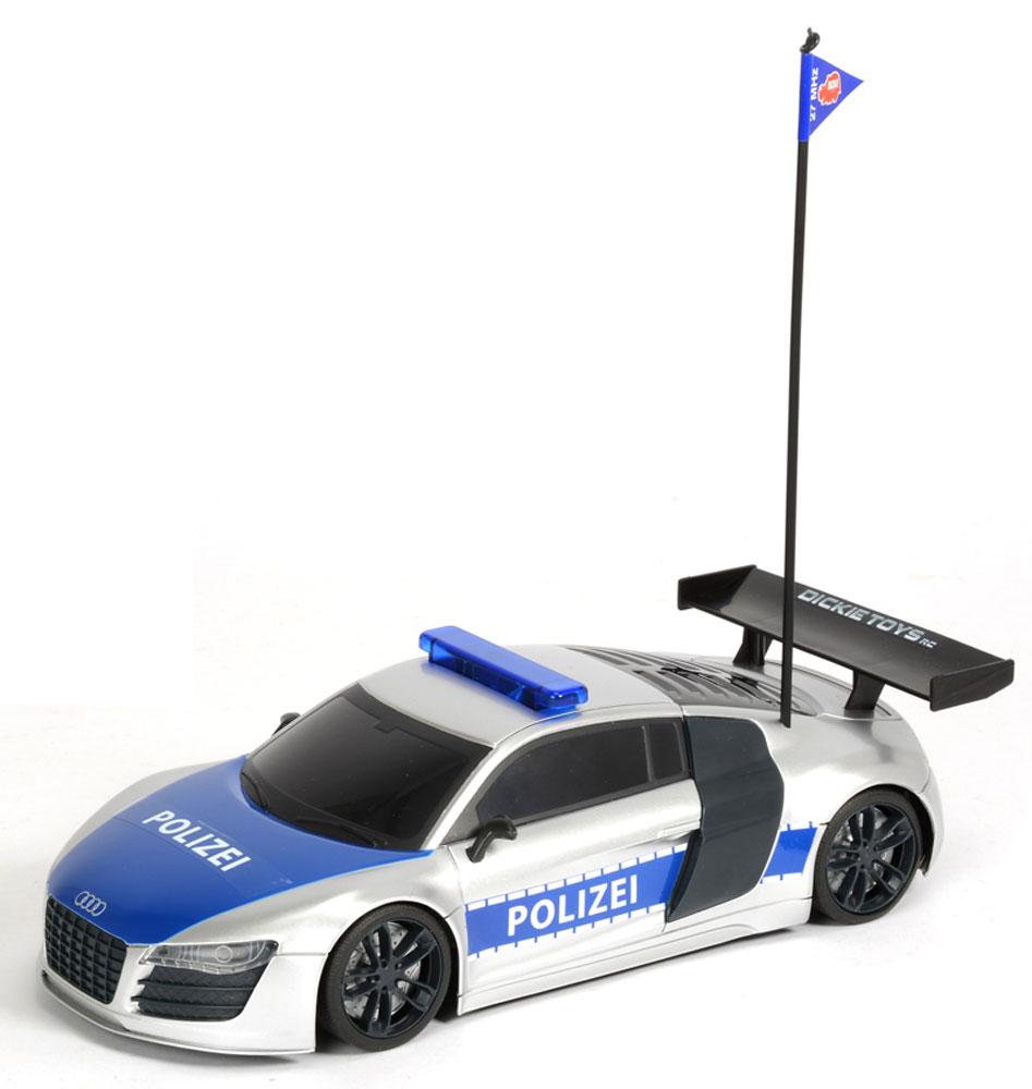 """Машина на радиоуправлении """"Полицейский патруль"""" привлечет к себе внимание не только ребенка, но и взрослого, и станет отличным подарком любителю автомобилей. Она представляет собой уменьшенную копию полицейской машины. Модель с двухканальным управлением изготовлена из прочных материалов и обладает высокой стабильностью движения, что позволяет полностью контролировать его процесс, управляя уверенно и без суеты. Машина оснащена звуковыми и световыми эффектами: во время игры под звуки сирены у нее подсвечиваются фары и мигалка. При помощи пульта управления автомобиль может перемещаться вперед-влево-вправо, назад-влево-вправо и останавливаться. Максимальная скорость движения - 8 км/ч. В набор входит машина, антенна, пульт радиоуправления и батарейки. Ваш ребенок часами будет играть с моделью, придумывая различные истории и устраивая соревнования. Порадуйте его таким замечательным подарком! Машина работает от 6 батареек напряжением 1,5V типа АА (входят в..."""