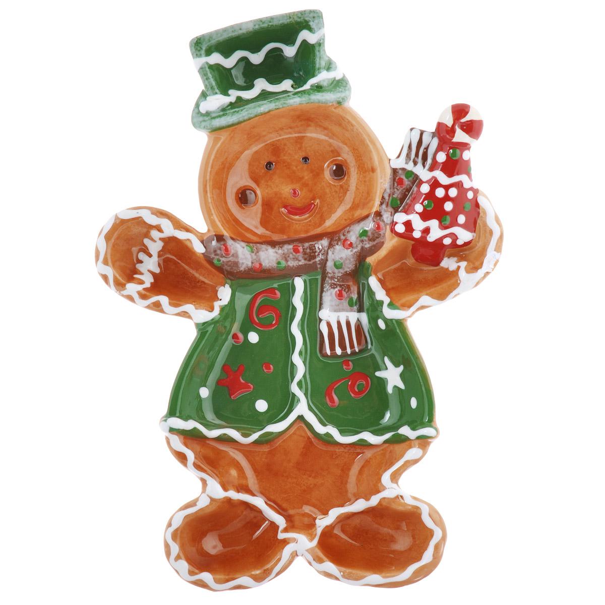 Блюдо House & Holder Снеговик, 18,5 см х 26 см х 3 см115510Блюдо House & Holder Снеговик выполнено из высококачественного фаянса в виде снеговика и имеет отделение для соуса. Такое блюдо можно использовать для подачи закусок. Оригинальный дизайн блюда House & Holder Снеговик идеально впишется в интерьер вашей кухни или будет достойным подарком для родных и друзей.