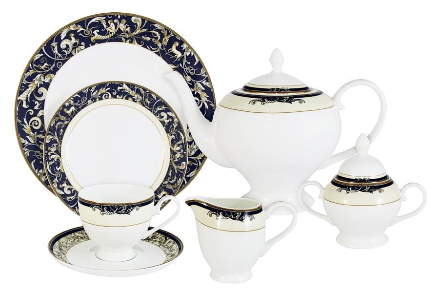 Чайный сервиз 40 предметов на 12 персон Олимпия. E5-14-234/40-AL чайный сервиз emerald розовые цветы из 40 ка предметов e5 hv004011 40 al