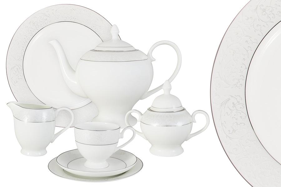 Чайный сервиз 40 предметов на 12 персон Мелисента. E5-14-310/40-AL чайный сервиз emerald розовые цветы из 40 ка предметов e5 hv004011 40 al