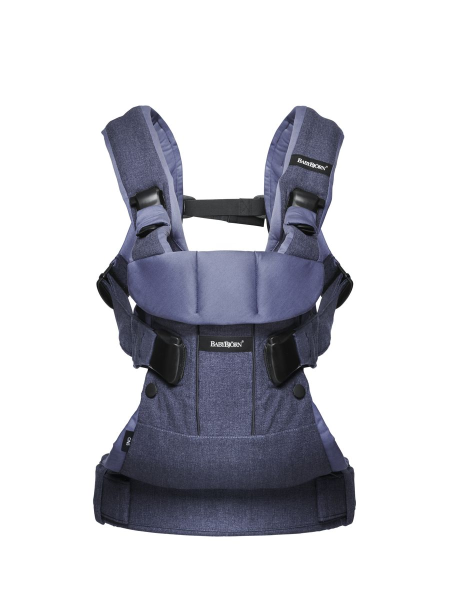 BabyBjorn Рюкзак-кенгуру One New Soft Cotton Mix цвет синий деним  рюкзак кенгуру babybjorn miracle soft сotton цвет черный серый