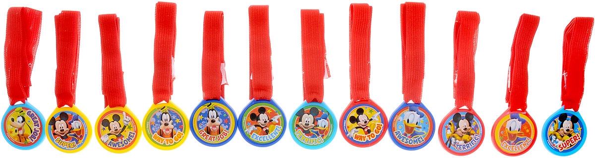 Веселая затея Медаль Disney Микки Маус12 шт