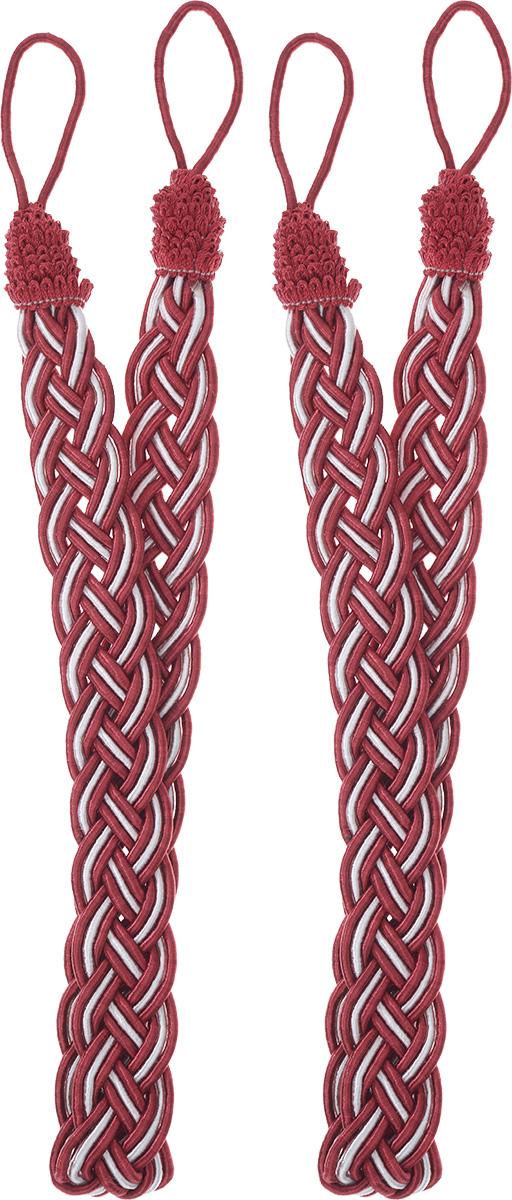 Подхват для штор Goodliving Коса, цвет: красный, серебристый, длина 65 см, 2 шт142669_574/502Подхват для штор Goodliving Коса представляет собой плотный узор, плетеный в виде косы. Изделие оснащено петлями для фиксации штор, гардин и портьер. Подхват - это основной вид фурнитуры в декоре штор, сочетающий в себе не только декоративную функцию, но и практическую - регулировать поток света. Такой аксессуар способен украсить любую комнату.Длина подхвата (с учетом петель): 65 см. Ширина подхвата: 2,5 см.
