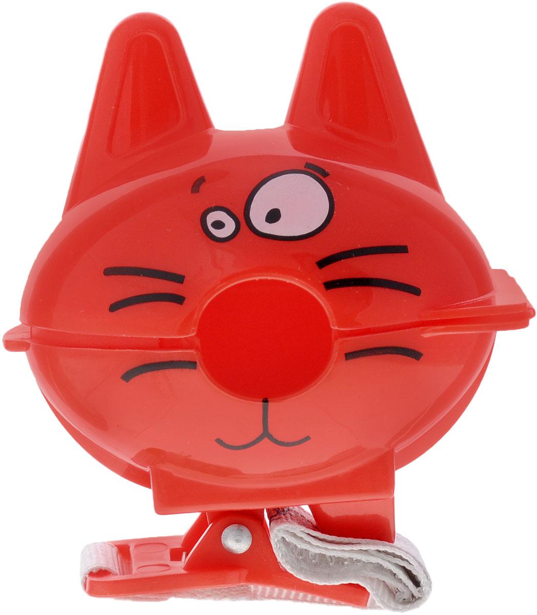 Bebe Confort Футляр-клипса для пустышки Котик цвет красный, Dorel France S.A.