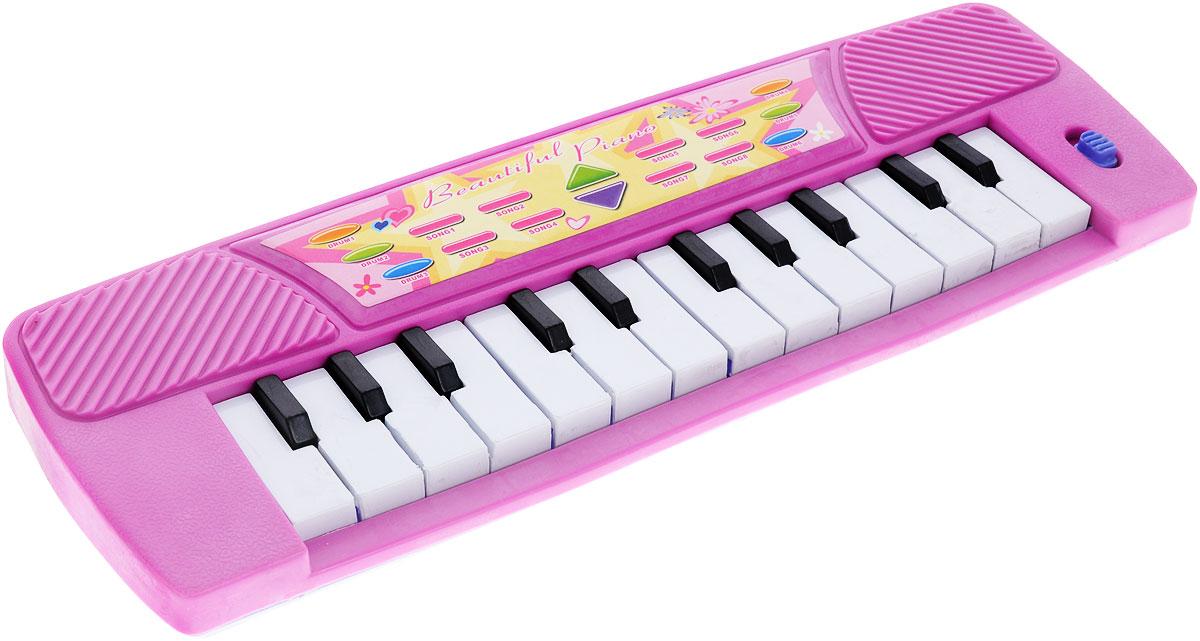S+S Toys Музыкальная игрушка Пианино цвет розовый