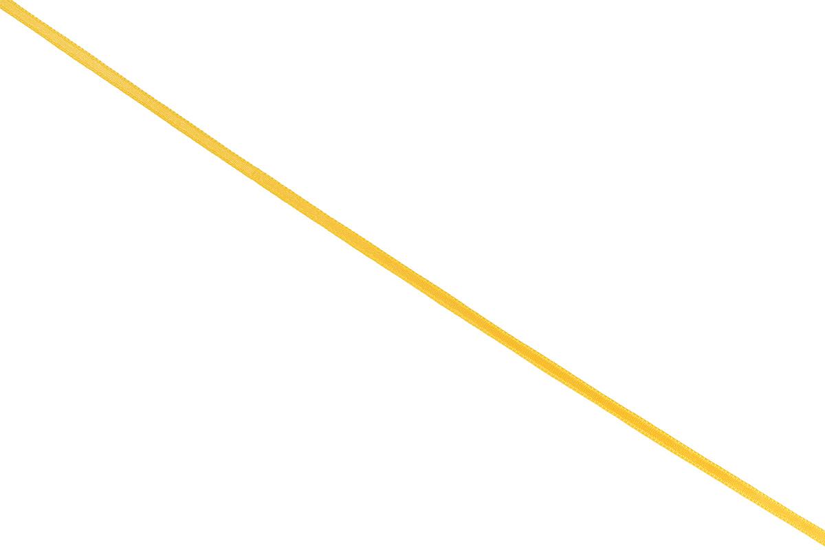 Лента атласная Prym, цвет: темно-желтый, ширина 3 мм, длина 50 мK100Атласная лента Prym изготовлена из 100% полиэстера. Область применения атласной ленты весьма широка. Изделие предназначено для оформления цветочных букетов, подарочных коробок, пакетов. Кроме того, она с успехом применяется для художественного оформления витрин, праздничного оформления помещений, изготовления искусственных цветов. Ее также можно использовать для творчества в различных техниках, таких как скрапбукинг, оформление аппликаций, для украшения фотоальбомов, подарков, конвертов, фоторамок, открыток и многого другого.Ширина ленты: 3 мм.Длина ленты: 50 м.