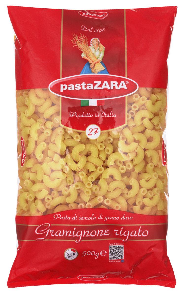 Pasta Zara Рожок рифленый маленький макароны, 500 гGE 608272Макароны Pasta Zara 027 сочетают в себе современность технологий производства и традиционное итальянское качество.Макаронные изделия Pasta Zara - одна из самых популярных марок итальянских макаронных изделий в России. Макароны Pasta Zaraвыпускаются в Италии с 1898 года семьёй Браганьоло уже в течение четырёх поколений. Это семейный бизнес, который вкладывает более, чем вековой опыт работы с макаронными изделиями в создание и продвижение своего продукта, тщательно отслеживая сохранение традиций.