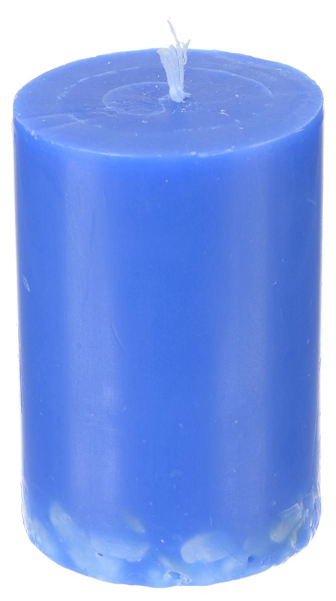 Свеча декоративная Proffi Home Столбик, с галькой, цвет: синий, высота 8 см25051 7_желтыйДекоративная свеча Proffi Home Столбик выполнена из парафина и стеарина в классическом стиле. Нижняя часть свечи декорирована галькой. Изделие порадует вас ярким дизайном. Такую свечу можно поставить в любое место, и она станет ярким украшением интерьера. Свеча Proffi Home Столбик создаст незабываемую атмосферу, будь то торжество, романтический вечер или будничный день.