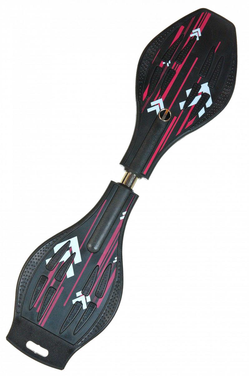 Скейтборд DragonBoard Line, двухколесный, цвет: черный, фуксия, дека 87 х 23 смво679Двухколесный балансирующий скейтборд Dragon Board Lineимеет классическую конструкцию с торсионной пружиной. Дека выполнена из прочного ABS-пластика и оснащена противоскользящим покрытием, что обеспечит комфортное и безопасное катание. Колеса скейтборда выполнены из прочного полиуретана и вращаются на 360°. Скейтбординг - это зрелищный и экстремальный вид спорта, представляющий собой катание на роликовой доске с преодолением препятствий и выполнением различных трюков.