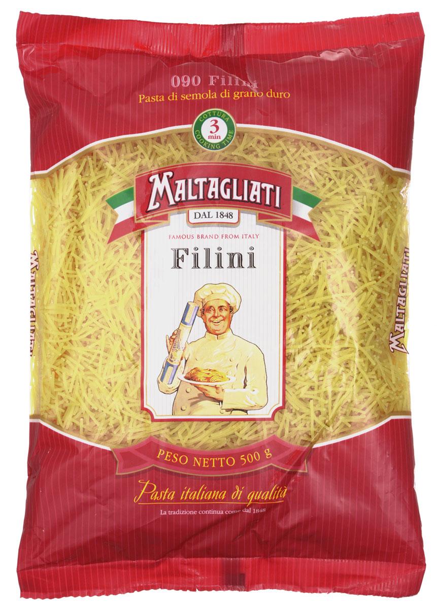 Maltagliati Filini Паутинка макароны, 500 г0120710Лапша - паутинка Maltagliati 090 производится в Италии в Тоскане с 1848 года. Макаронные изделия Maltagliati с изображением итальянского повара — самые известные итальянские макаронные изделия на территории Российской Федерации и, вероятно, всего бывшего СССР. Эту лапшу можно добавить в суп или в детскую пищу, а также приготовить с молоком или овощами и мясом - любое блюдо будет на высоте благодаря отменным вкусовым качествам макаронных изделий!