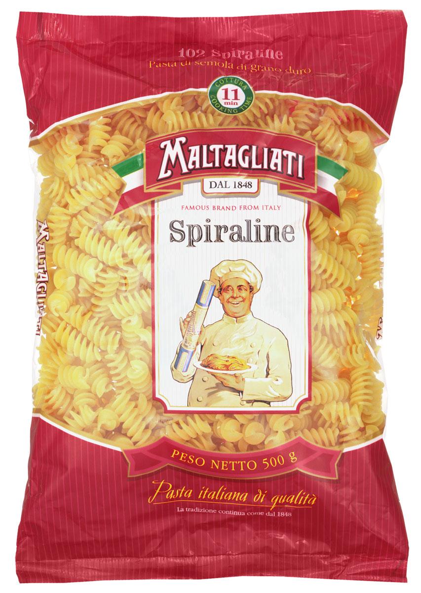 Maltagliati Spiraline Спираль лигурийская макароны, 500 г0120710Макаронные изделия Maltagliati производятся в Италии в Тоскане с 1848 года. Несмотря на то, что Maltagliati - это имя собственное, с начала прошлого века Maltagliati используется в Италии как нарицательное имя для домашней лапши и формата макаронных изделий похожих на домашнюю лапшу. Это самые известные итальянские макаронные изделия на территории Российской Федерации и, вероятно, всего бывшего СССР.
