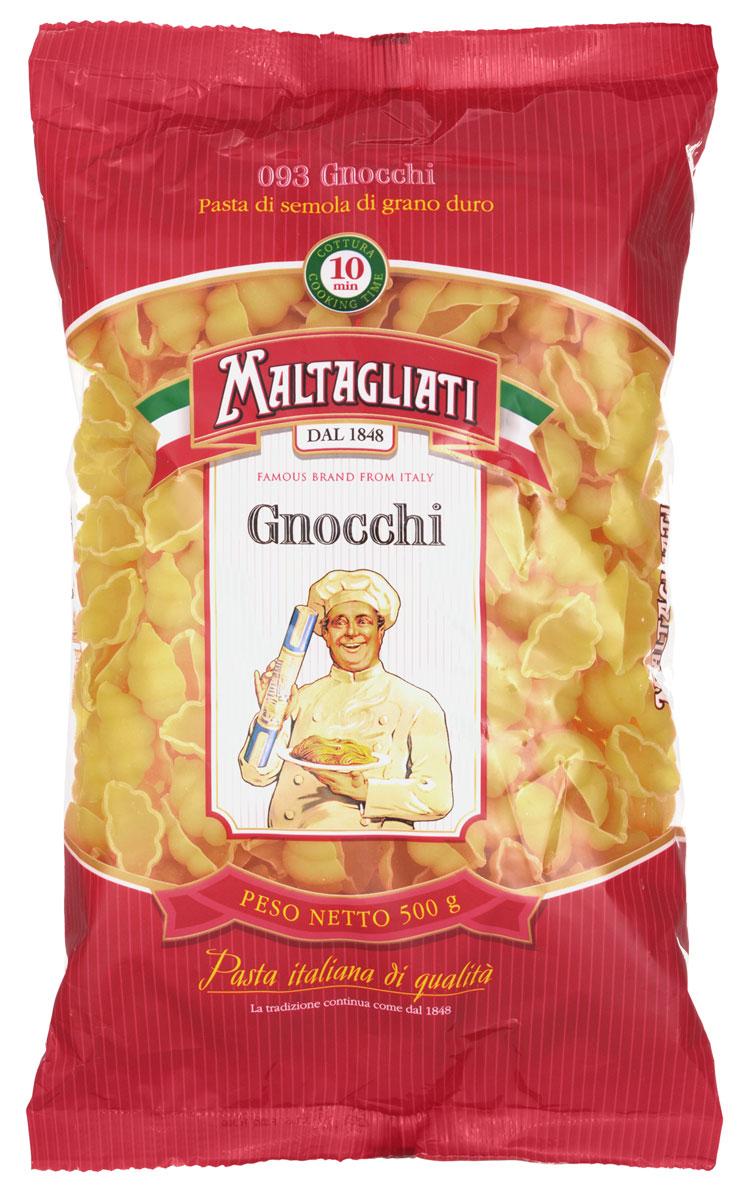 Maltagliati Gnocchi Куколка макароны, 500 г8001810903545Макаронные изделия Maltagliati производятся в Италии в Тоскане с 1848 года. Несмотря на то, что Maltagliati - это имя собственное, с начала прошлого века Maltagliati используется в Италии как нарицательное имя для домашней лапши и формата макаронных изделий похожих на домашнюю лапшу. Это самые известные итальянские макаронные изделия на территории Российской Федерации и, вероятно, всего бывшего СССР.