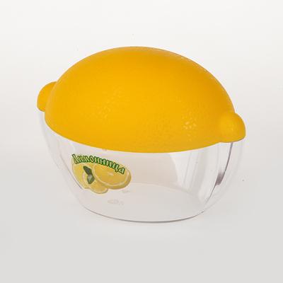 Емкость для лимона. M909VT-1520(SR)Емкость для лимона L=110мм (лимонно-прозрачный пластик формы лимона)