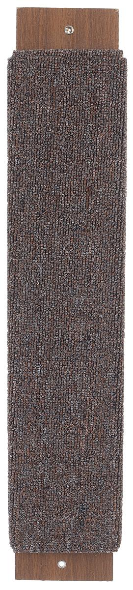 Когтеточка Гамма Ковролин, с пропиткой, цвет: коричневый, 57 см х 11 см16394Когтеточка Гамма Ковролин выполнена из оргалита и ковролина в виде доски. Когтеточка предназначена для стачивания когтей вашего питомца. Натуральное волокно когтеточки обеспечивает естественный уход за когтями кошки, предотвращая их врастание. Специальная пропитка привлекает внимание кошки, что позволяет сохранить мебель и другие предметы интерьера.Установите когтеточку в любом доступном для кошки месте и закрепите ее наиболее подходящим для вас способом.Размер: 57 см х 11 см.