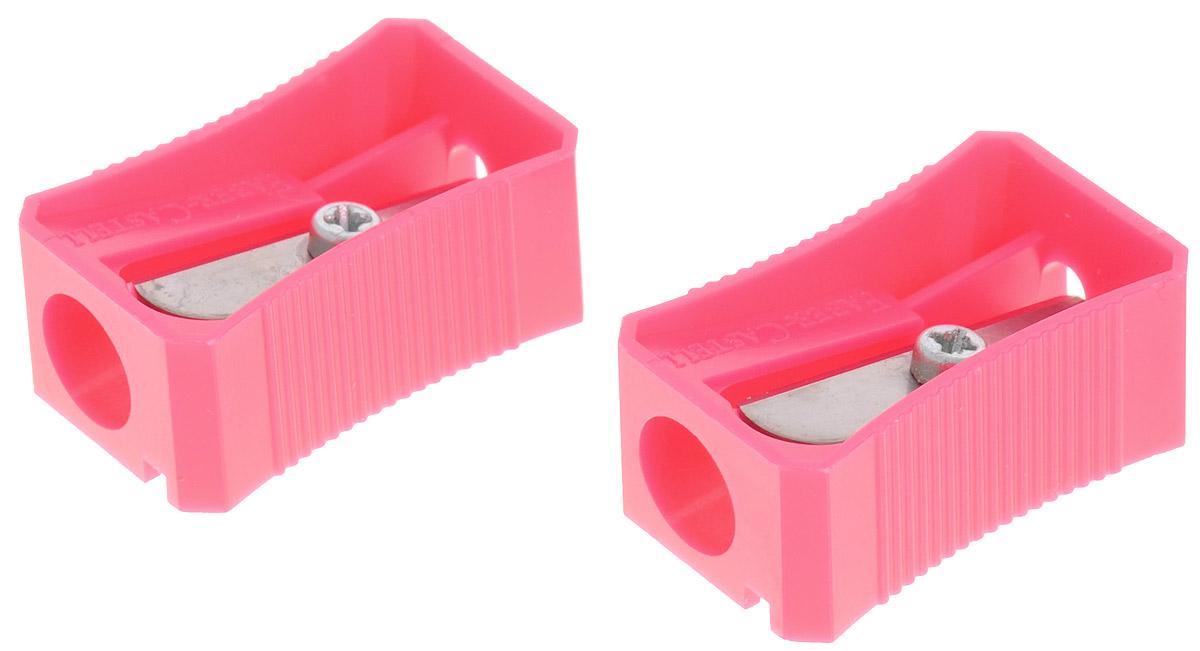 Faber-Castell Точилка цвет розовый 2 шт263380Набор точилок Faber-Castell предназначен для затачивания классических простых и цветных карандашей. В наборе две точилки из прочного пластика с рифленой областью захвата. Острые стальные лезвия обеспечивают высококачественную и точную заточку деревянных карандашей.
