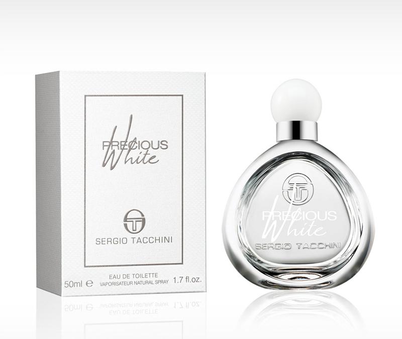 Sergio Tacchini  PRECIOUS WHITE WOMAN туалетная вода 50 мл5010777139655Древесные, цветочные. Водяные ноты, магнолия, роза, махагони, мускус, сандаловое дерево, арбуз, груша, персик