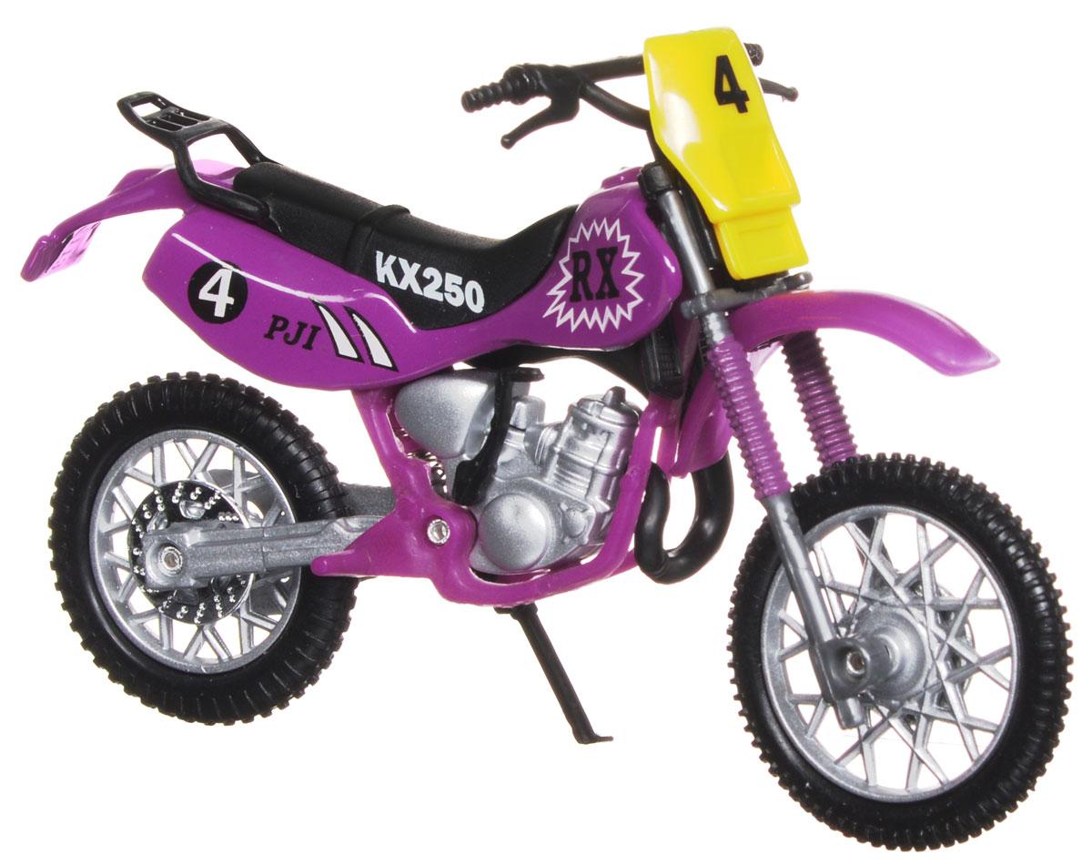 """Кроссовый мотоцикл Dickie Toys """"№ 4"""" непременно понравится любому маленькому гонщику. Мотоцикл выполнен из прочного безопасного пластика, его колесики прорезинены для лучшего сцепления с поверхностью пола. Мотоцикл оснащен откидывающейся боковой ножкой и оформлен красочными стикерами. Яркий, реалистичный мотоцикл, выполненный с вниманием к деталям, станет отличным дополнением к автопарку вашего малыша! Ваш ребенок часами будет играть с такой игрушкой, придумывая различные истории и устраивая соревнования. Порадуйте его таким замечательным подарком!"""
