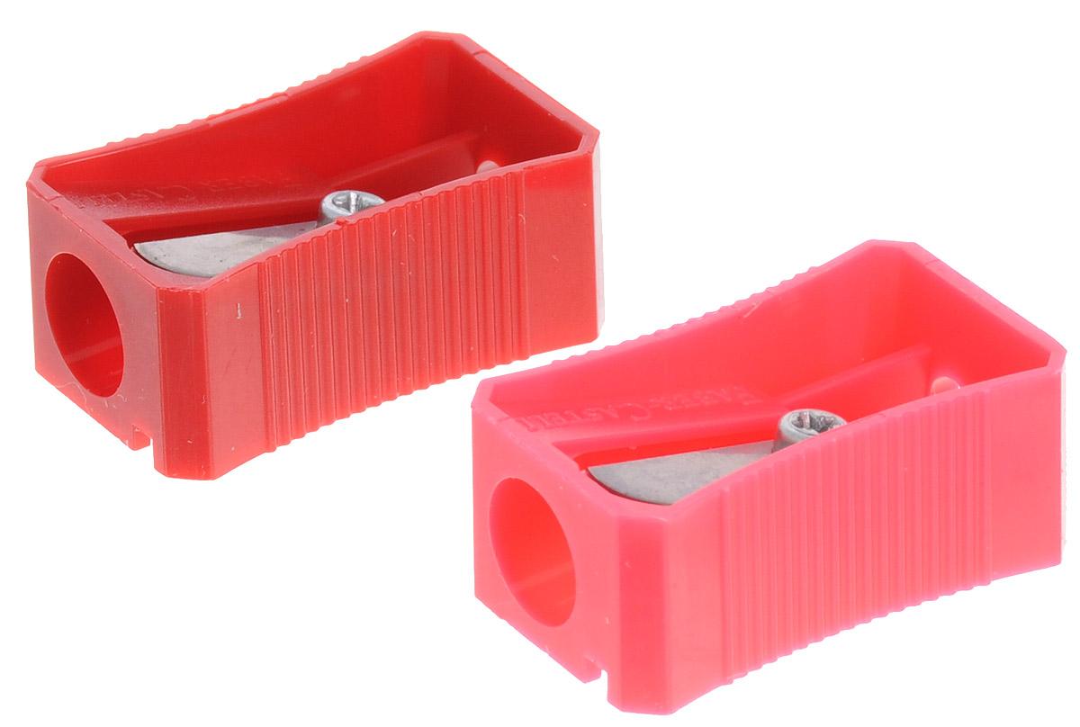 Faber-Castell Точилка цвет красный розовый 2 шт72523WDНабор точилок Faber-Castell предназначен для затачивания классических простых и цветных карандашей. В наборе две точилки из прочного пластика с рифленой областью захвата. Острые стальные лезвия обеспечивают высококачественную и точную заточку деревянных карандашей.